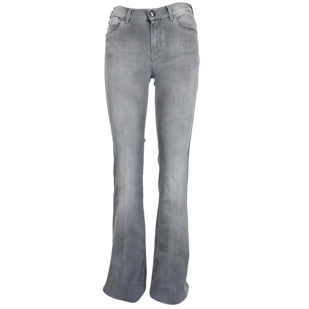 Frida jeans in stretch denim with flared pattern Light grey Jacob Cohen