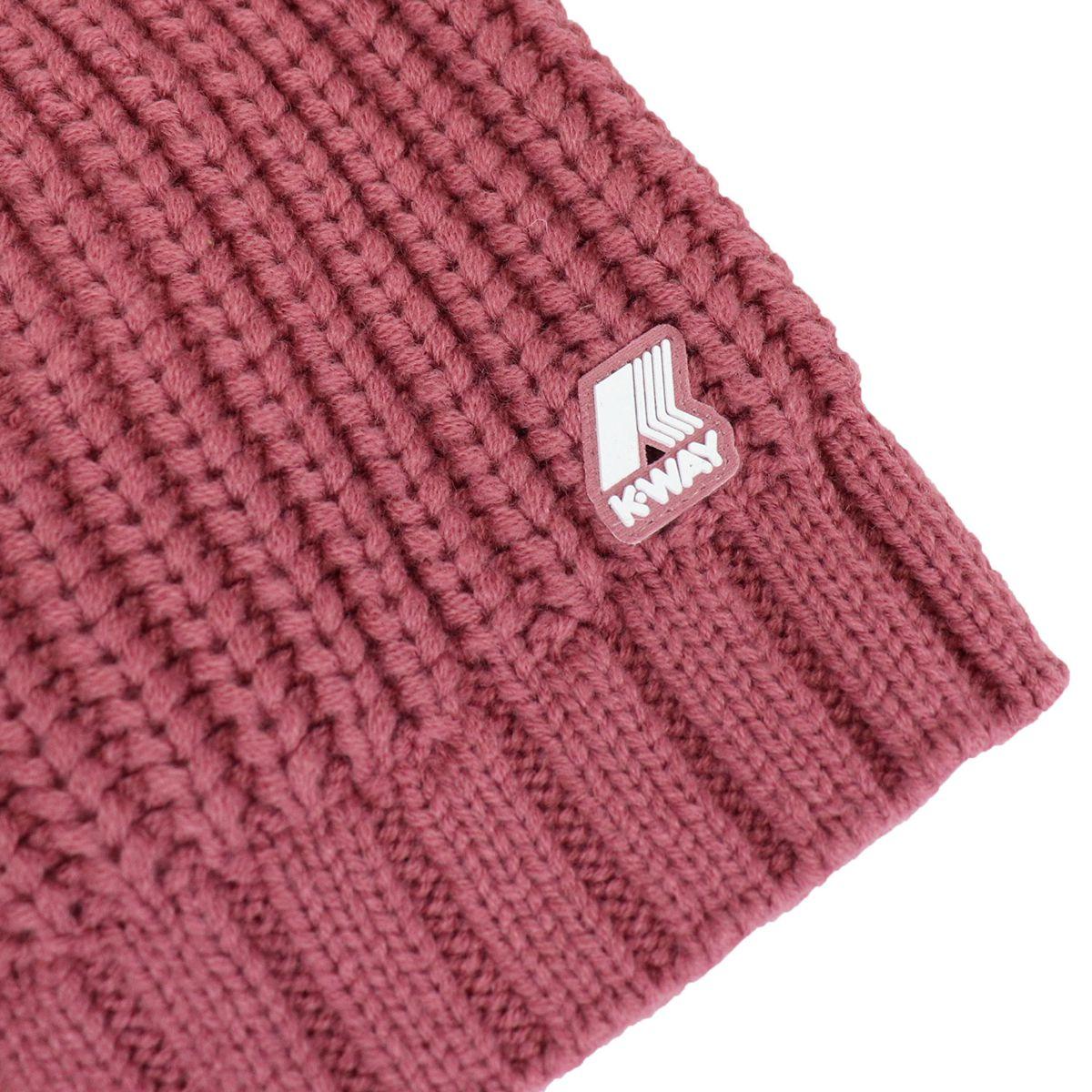 Cappello Aurelie in misto lana a coste Rosa K-Way