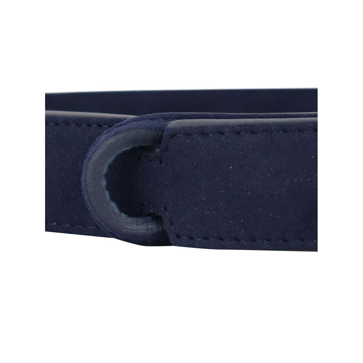 NO BUCKLE suede belt Blue Orciani