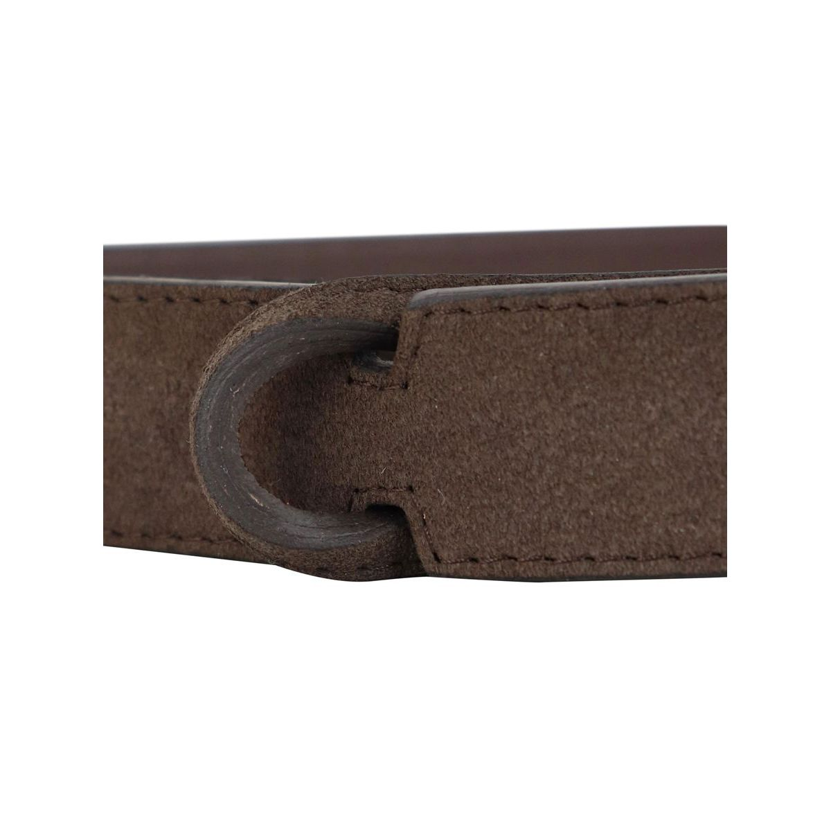 Cintura NO BUCKLE in suede Moro Orciani
