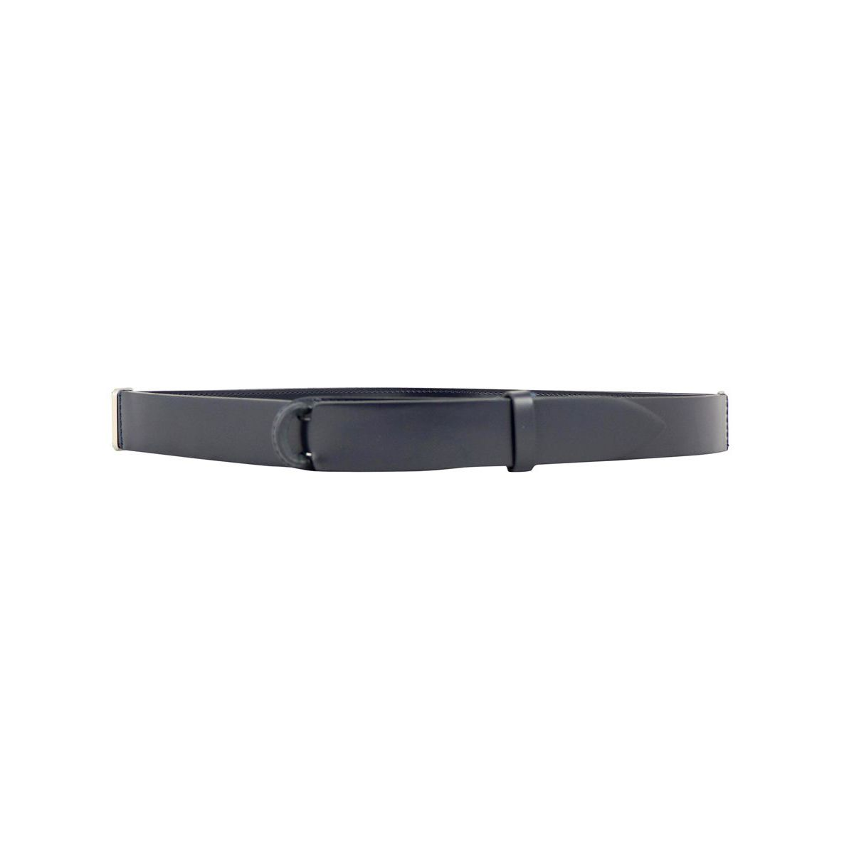 NO BUCKLE belt in smooth leather Blue Orciani