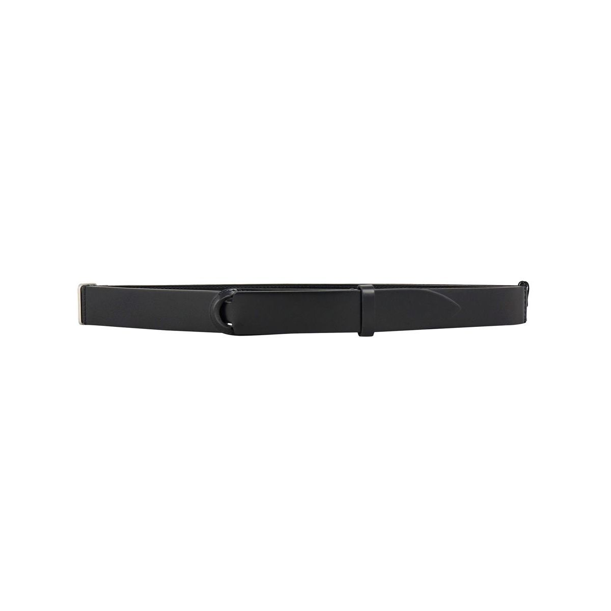 NO BUCKLE belt in smooth leather Black Orciani