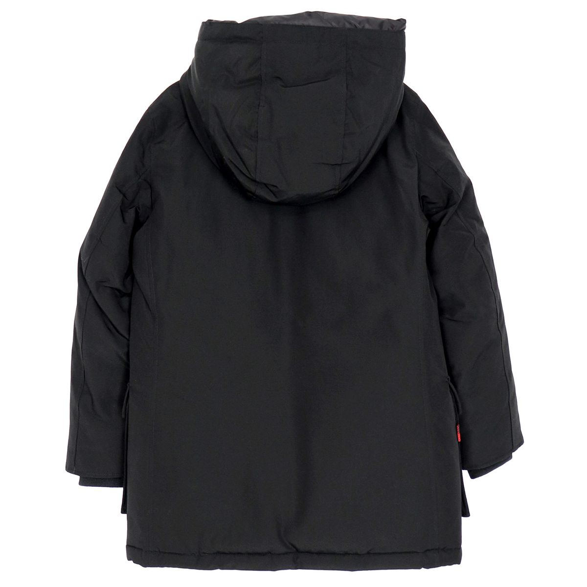Artic parka with logo detail on the collar and contrasting buttons Black Woolrich
