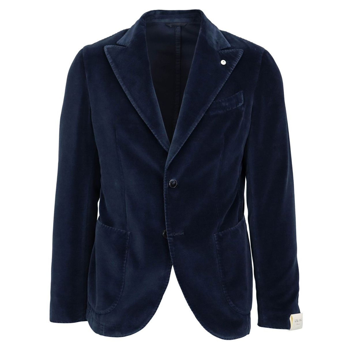 Smooth slim velvet jacket Blue L.B.M. 1911
