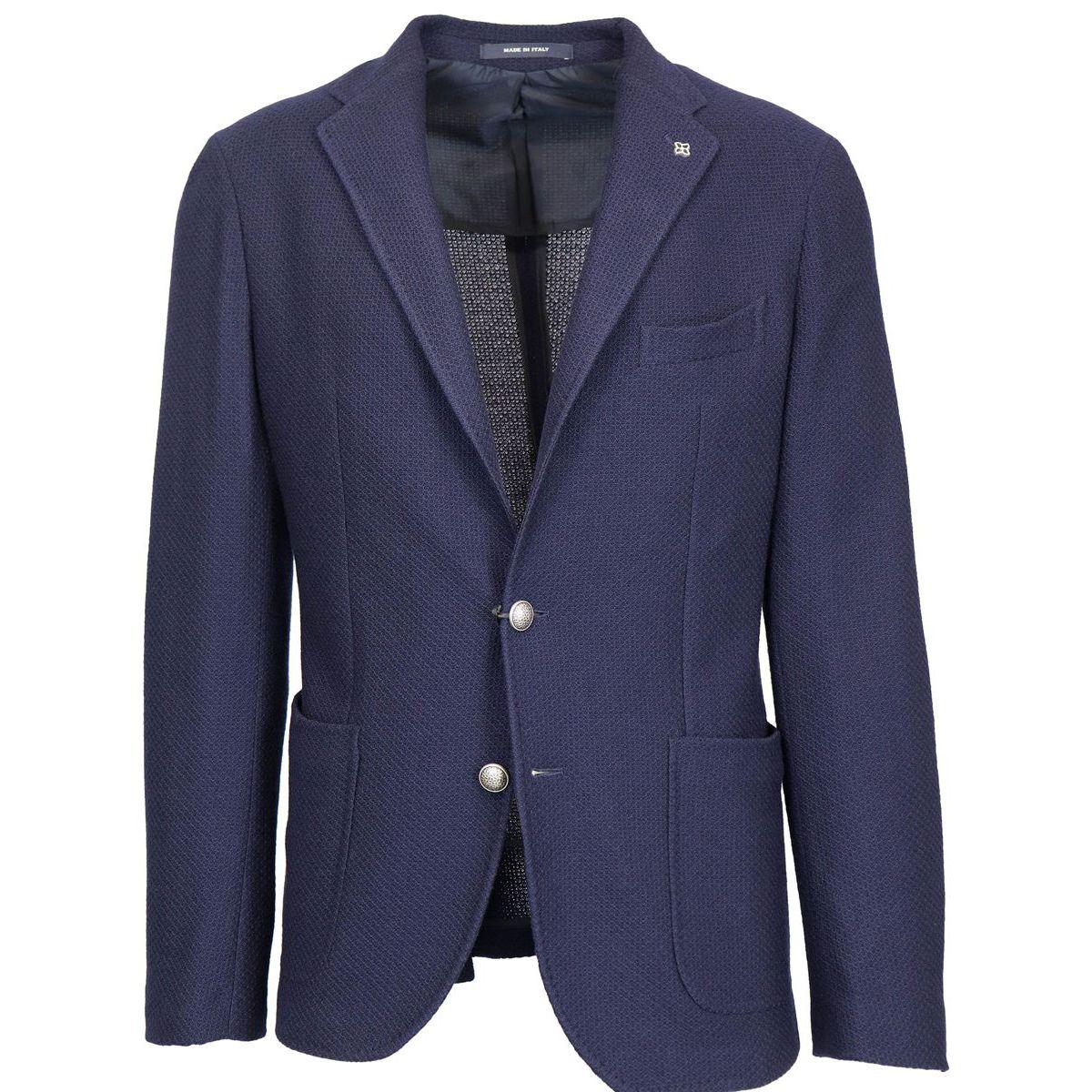 Wool jersey jacket Navy Tagliatore