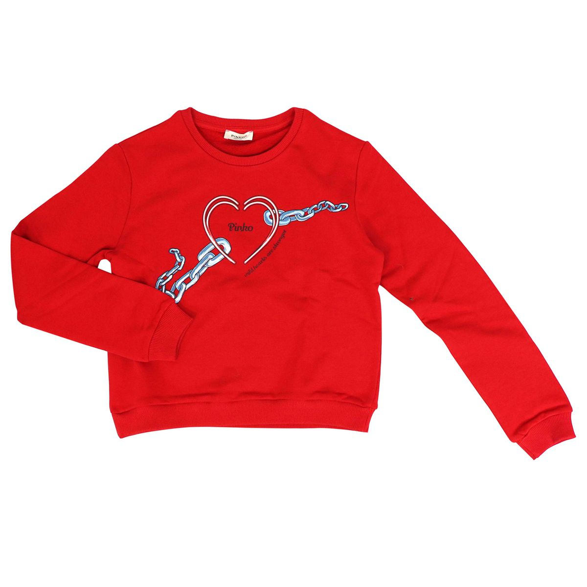 Crew neck sweatshirt with heart print MEDICO Red Pinko