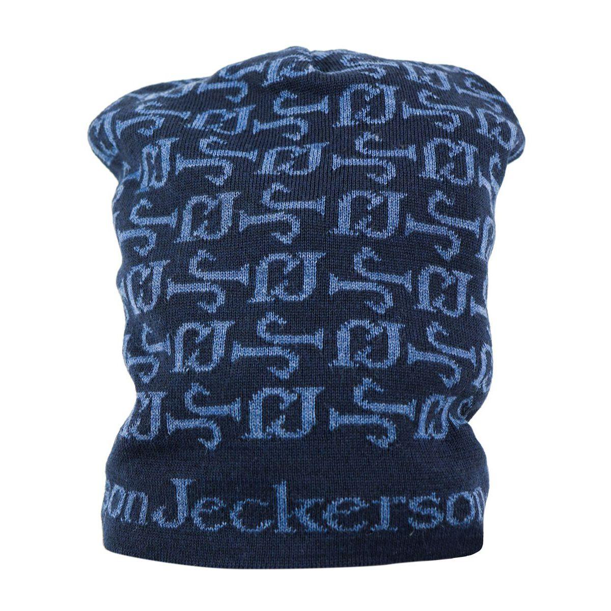 Contrast wool logo lettering cap Blue Jeckerson