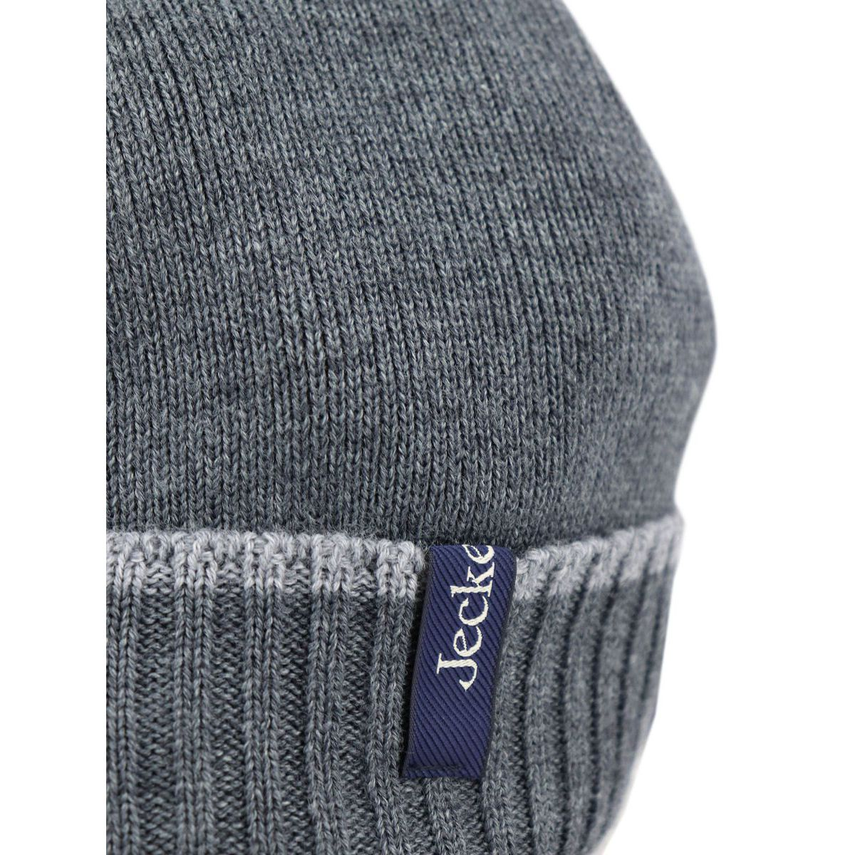 Wool blend hat with ribbed cuff Grey Jeckerson
