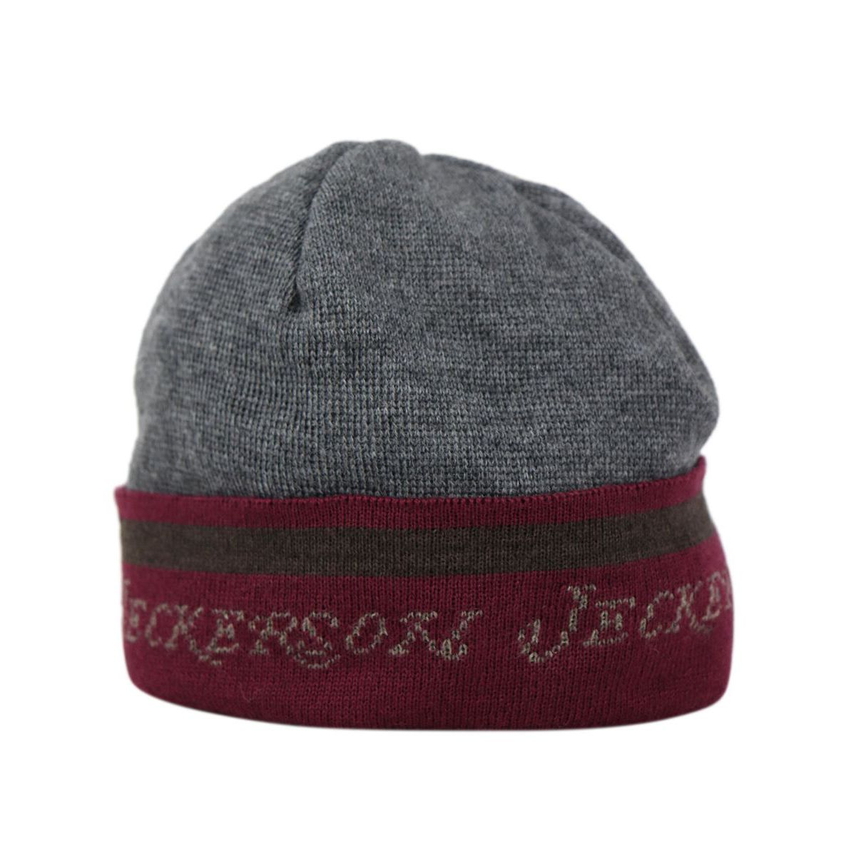 Hat with turning and writing in mixed wool Grey Jeckerson
