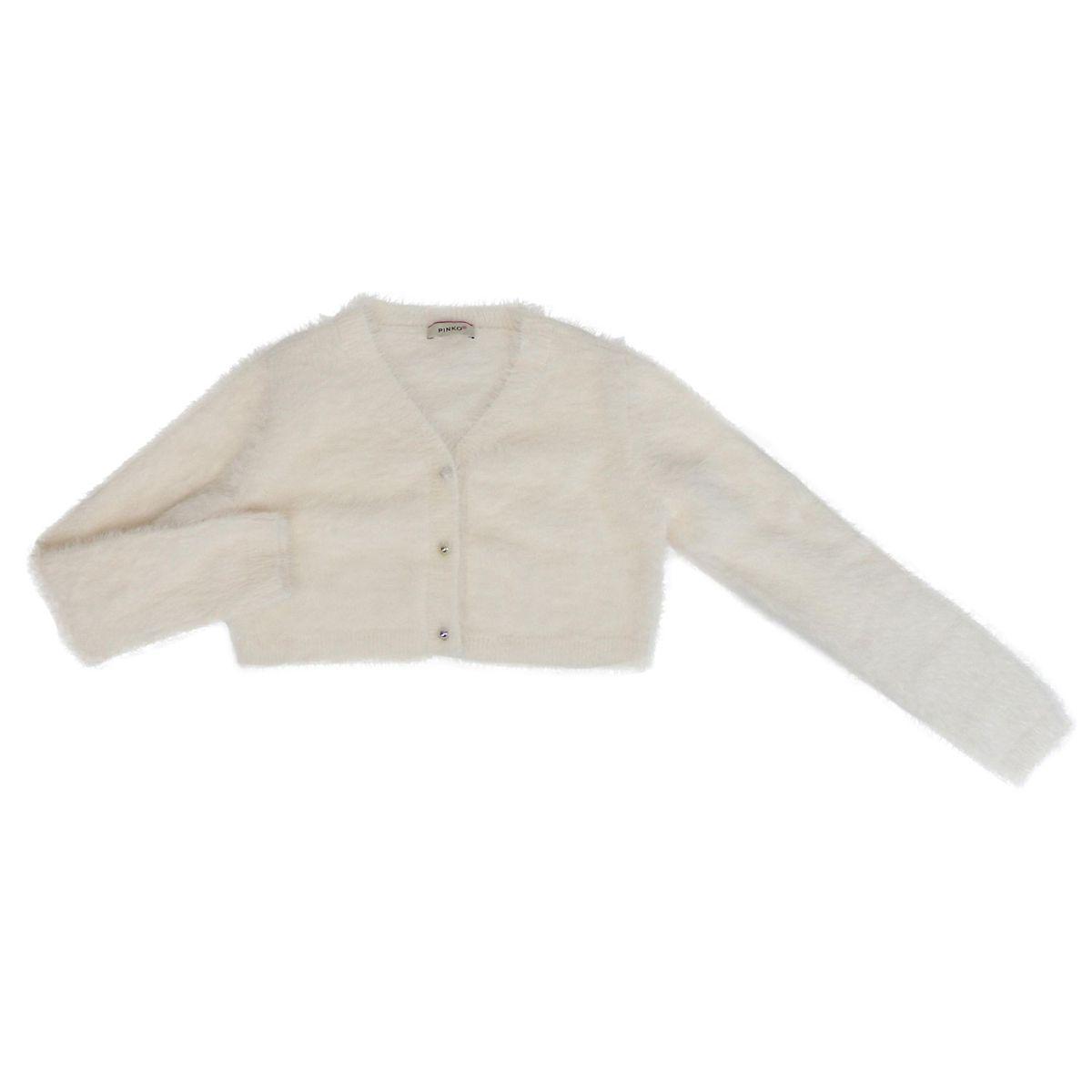 Short fur-effect cardigan ERBORISTA White Pinko