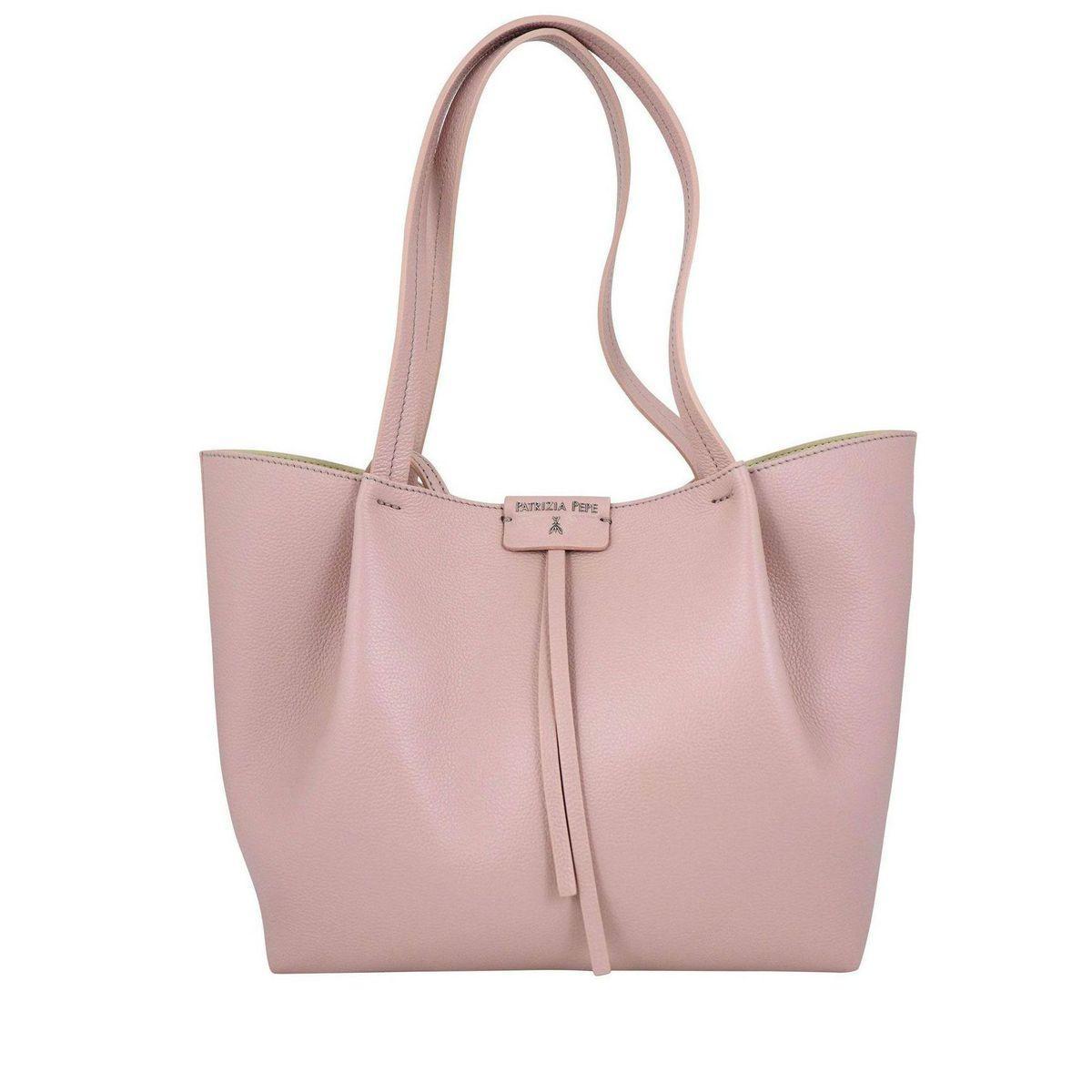 Shopper bag in cowhide leather Rose Patrizia Pepe