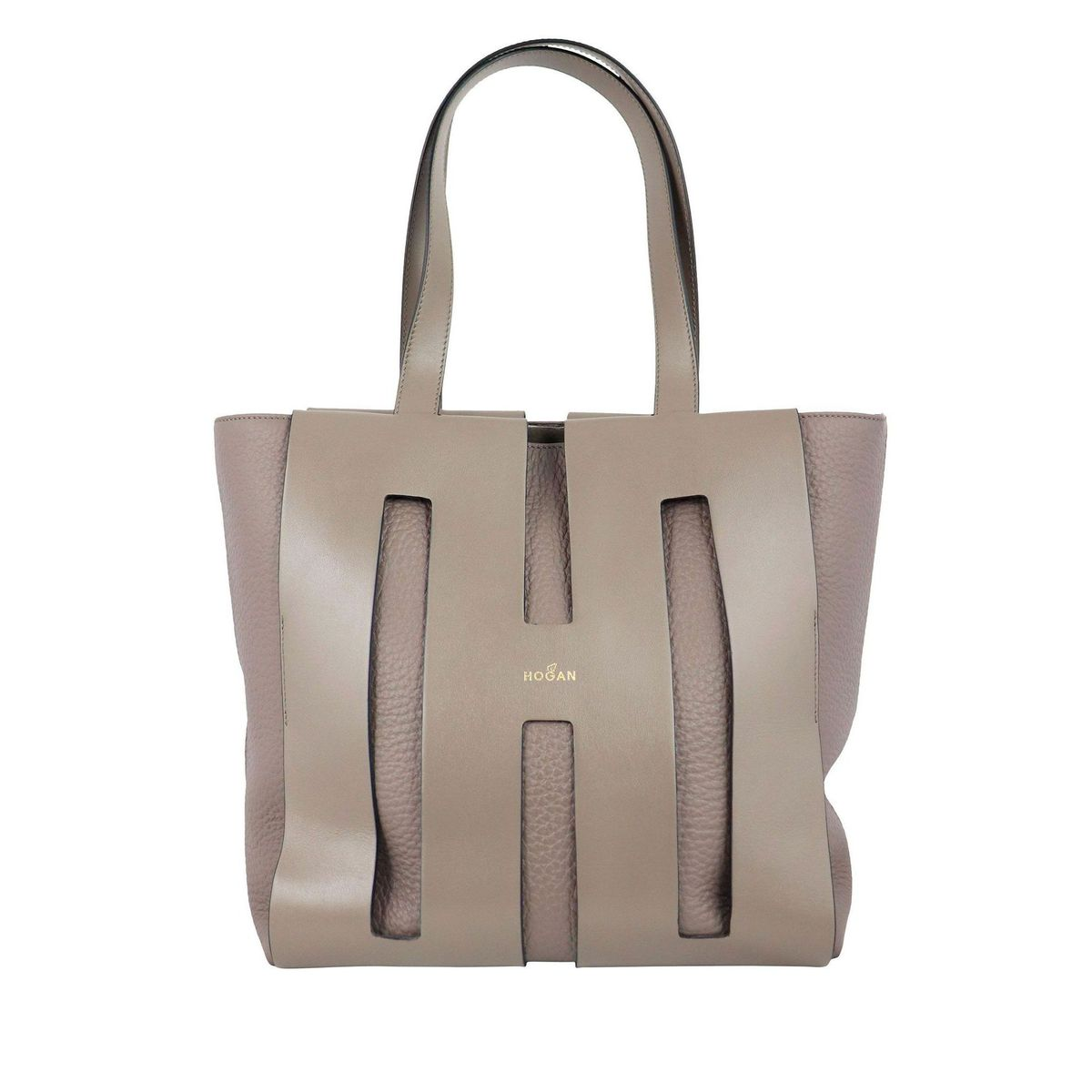 Bag in doubled effect leather Tortora Hogan