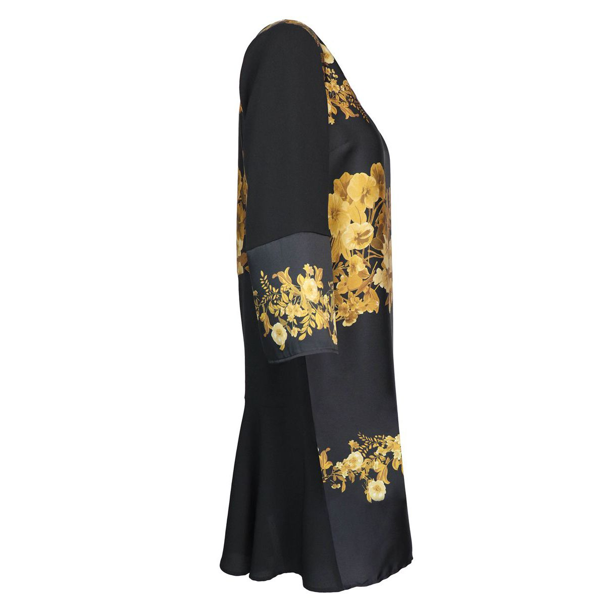 Three-quarter sleeve dress with gold pattern Black / fantasy Twin-Set