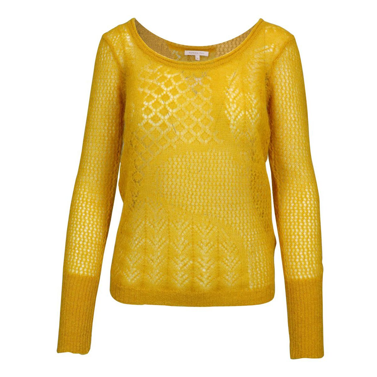 Perforated knit in wool blend Yellow Patrizia Pepe