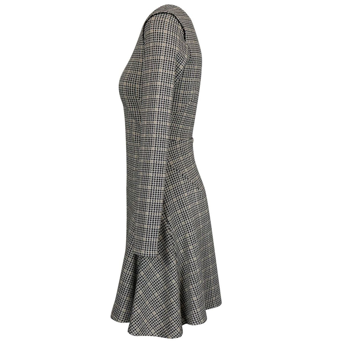 Houndstooth patterned midi dress Black / beige Patrizia Pepe
