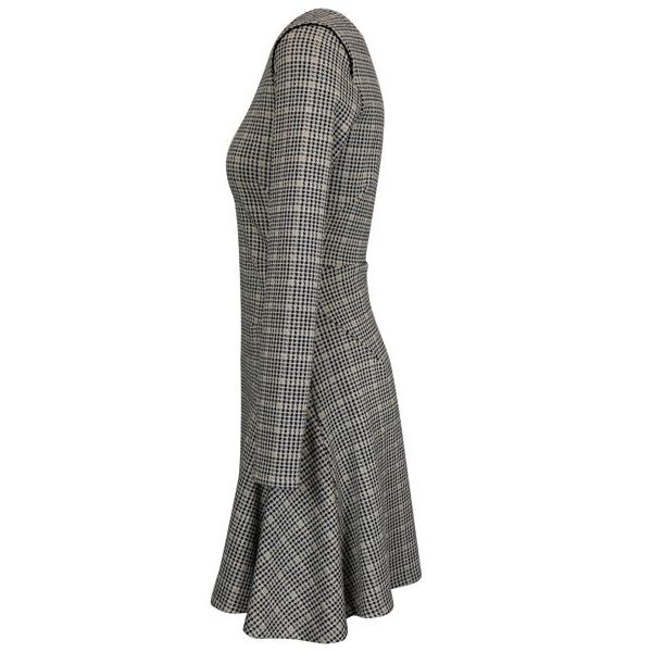 Houndstooth patterned midi dress Black / beige Patrizia Pepe