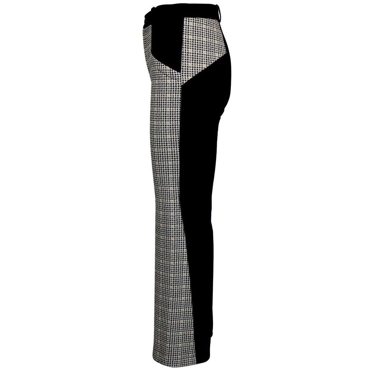 Houndstooth pattern trousers on the front Ivory / black Patrizia Pepe