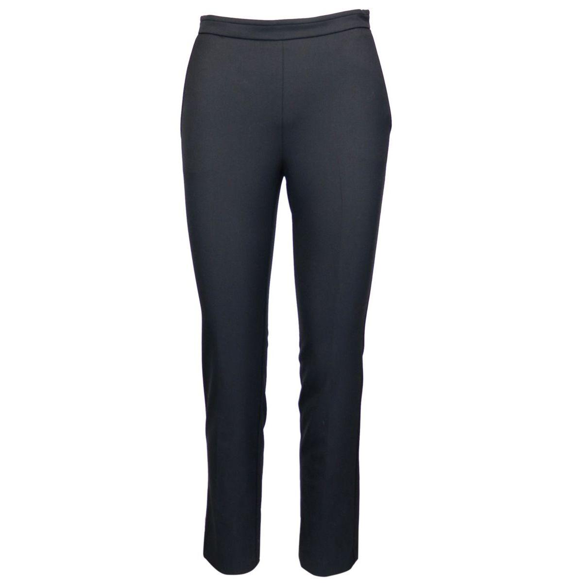 High-waisted cashmere blend trousers Black Patrizia Pepe
