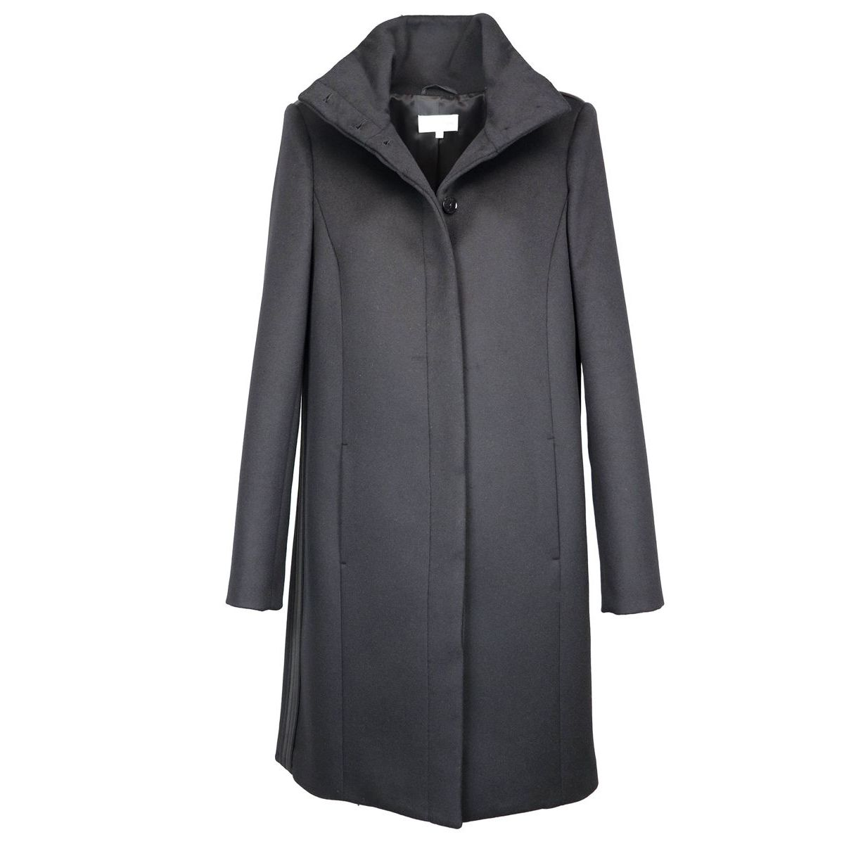 Wool blend coat with stand-up collar Black Patrizia Pepe