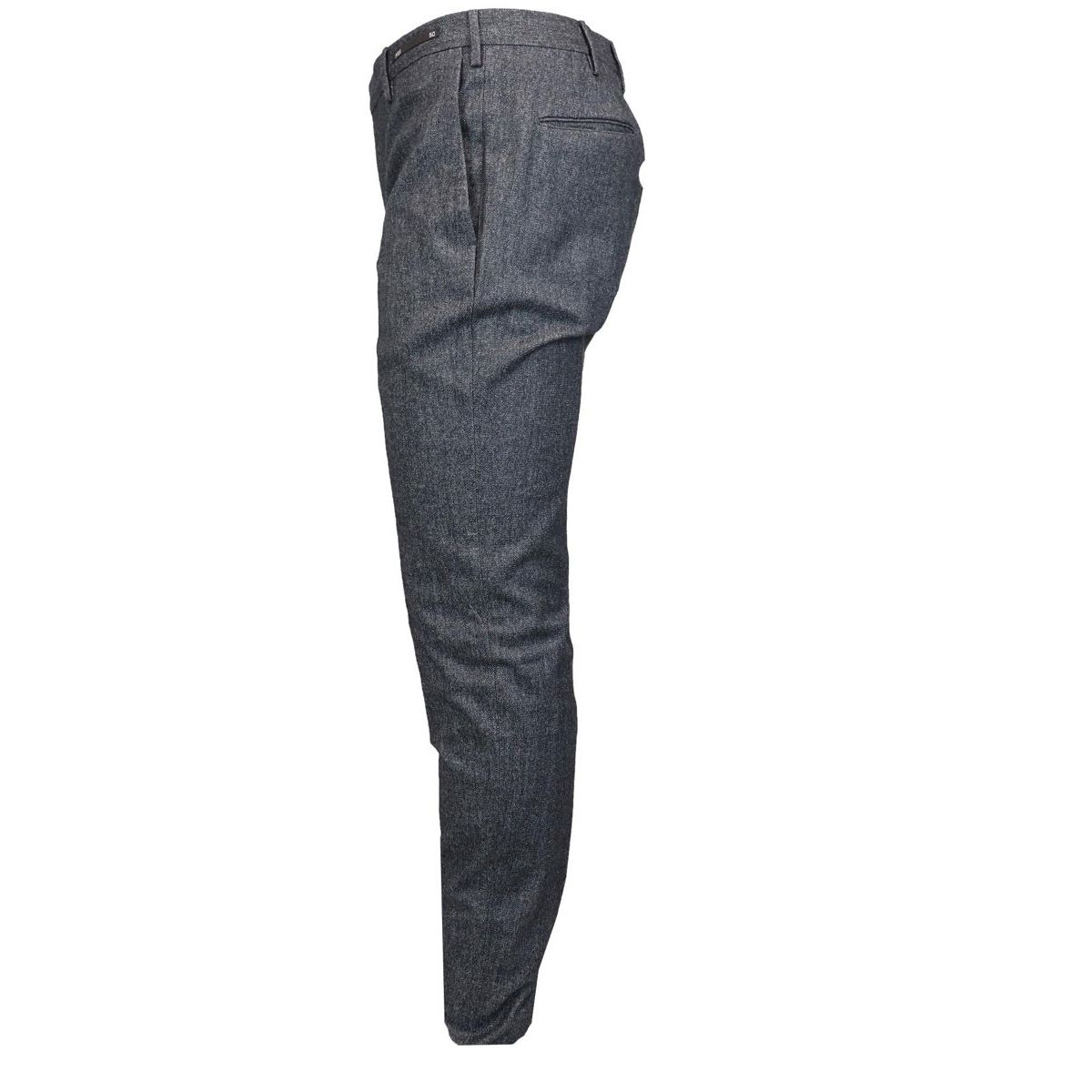 Skinny cotton blend trousers with america pocket Anthracite PT01