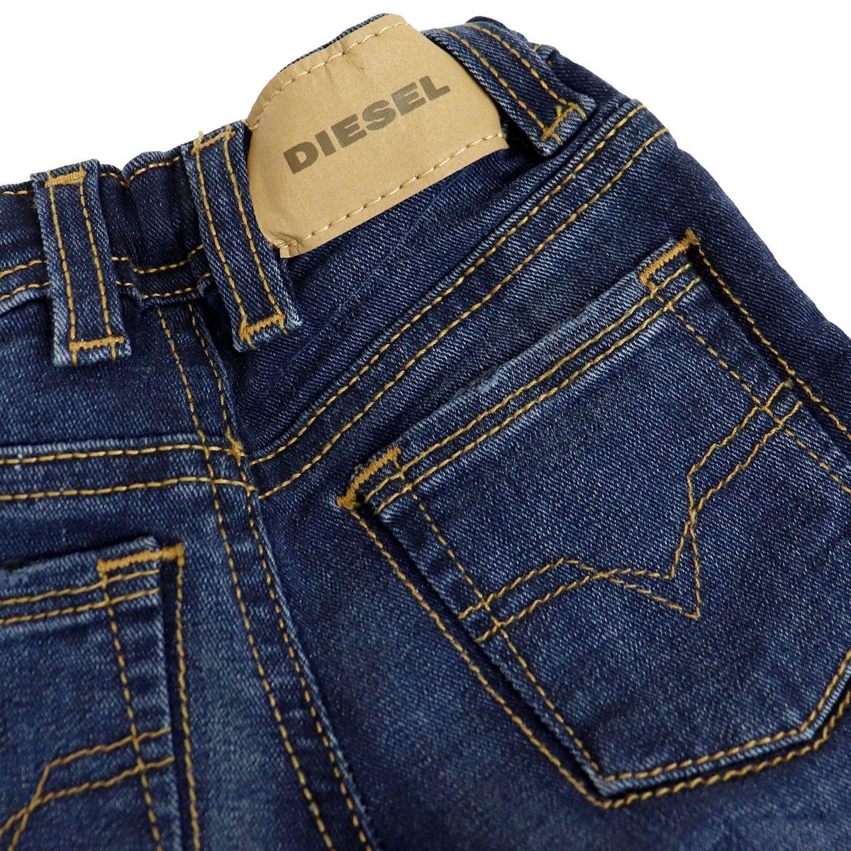 5-pocket slim jeans with used effect Dark denim Diesel