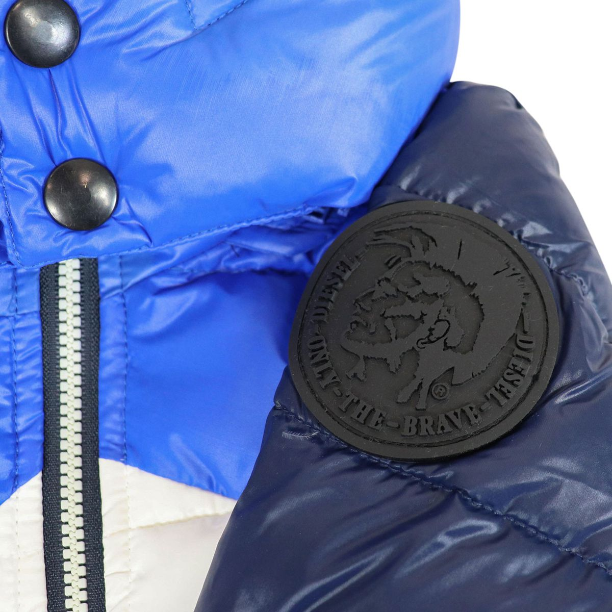 Tricolor jacket with hood Blue / white Diesel