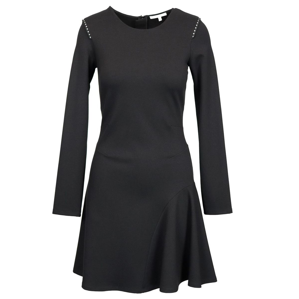 Dress in fabric stitch with bell bottom Black Patrizia Pepe