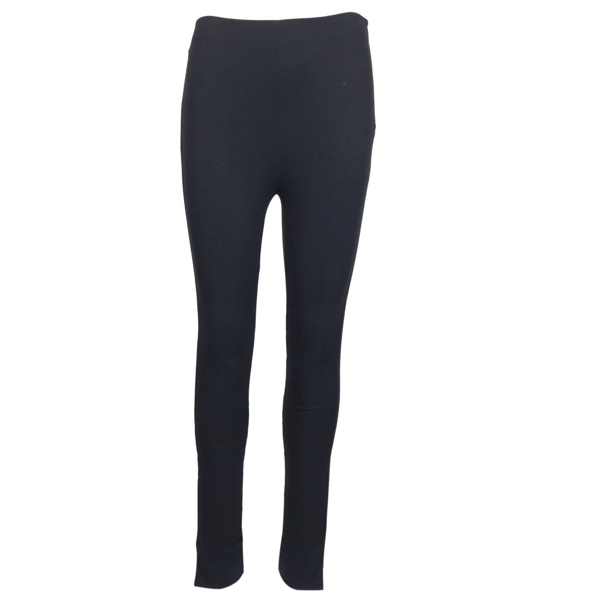 High-waisted viscose blend skinny trousers with slits on the bottom Black Patrizia Pepe