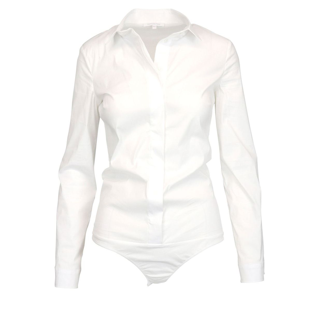 Slim fit body shirt with hidden buttoning White Patrizia Pepe