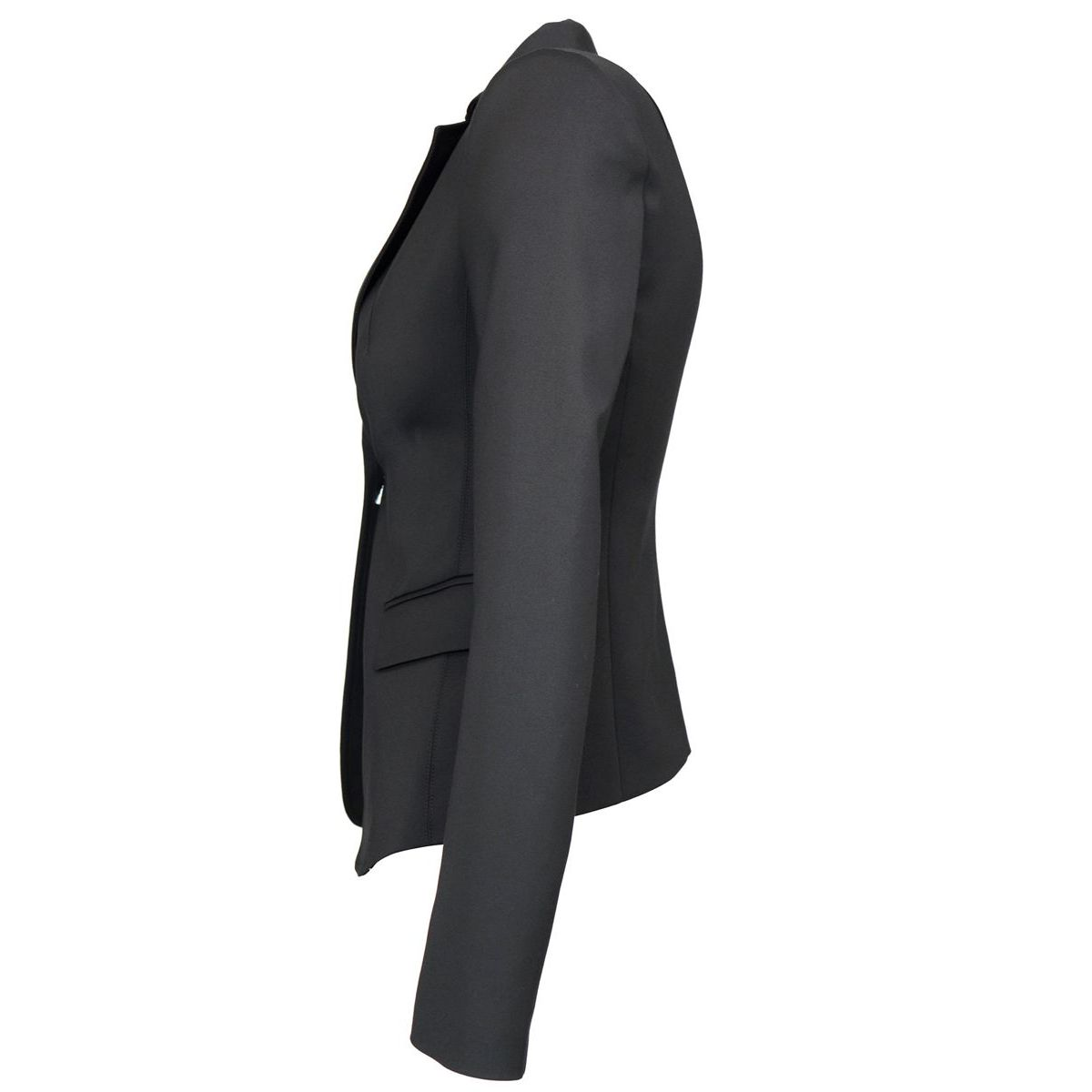 Slim blazer in cotton blend with two buttons Black Patrizia Pepe