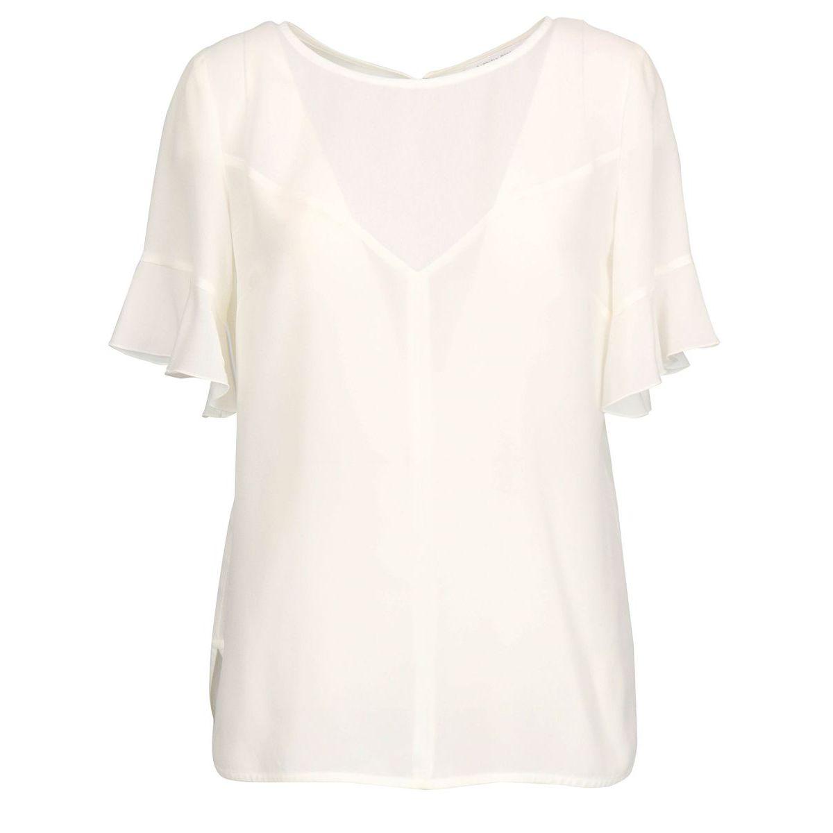Silk half sleeve blouse White Patrizia Pepe