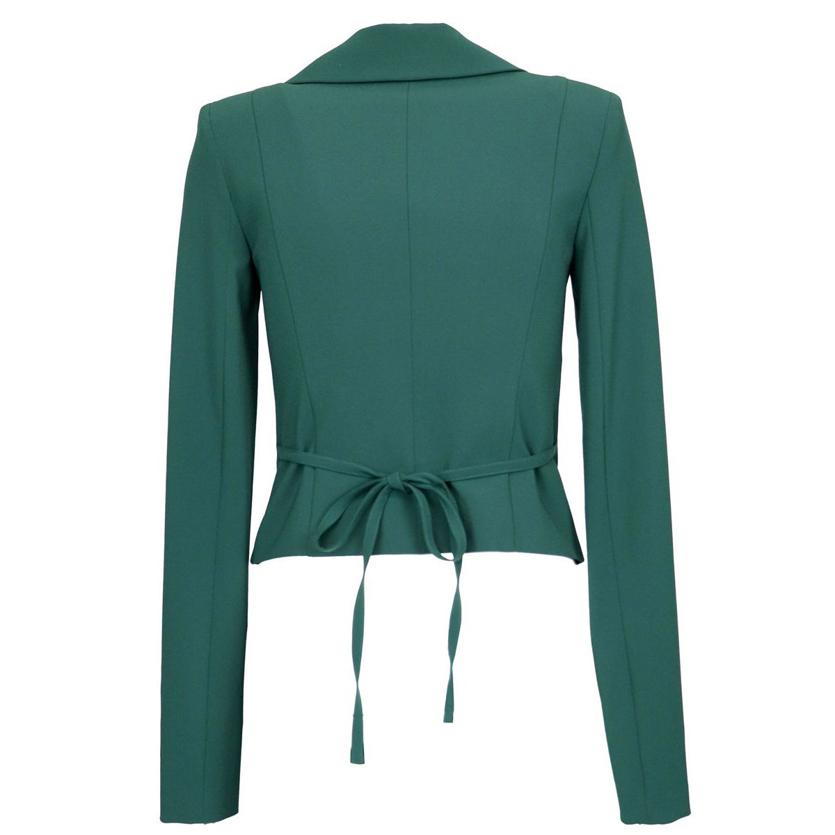 Biker jacket with zip on the sleeves Green Patrizia Pepe
