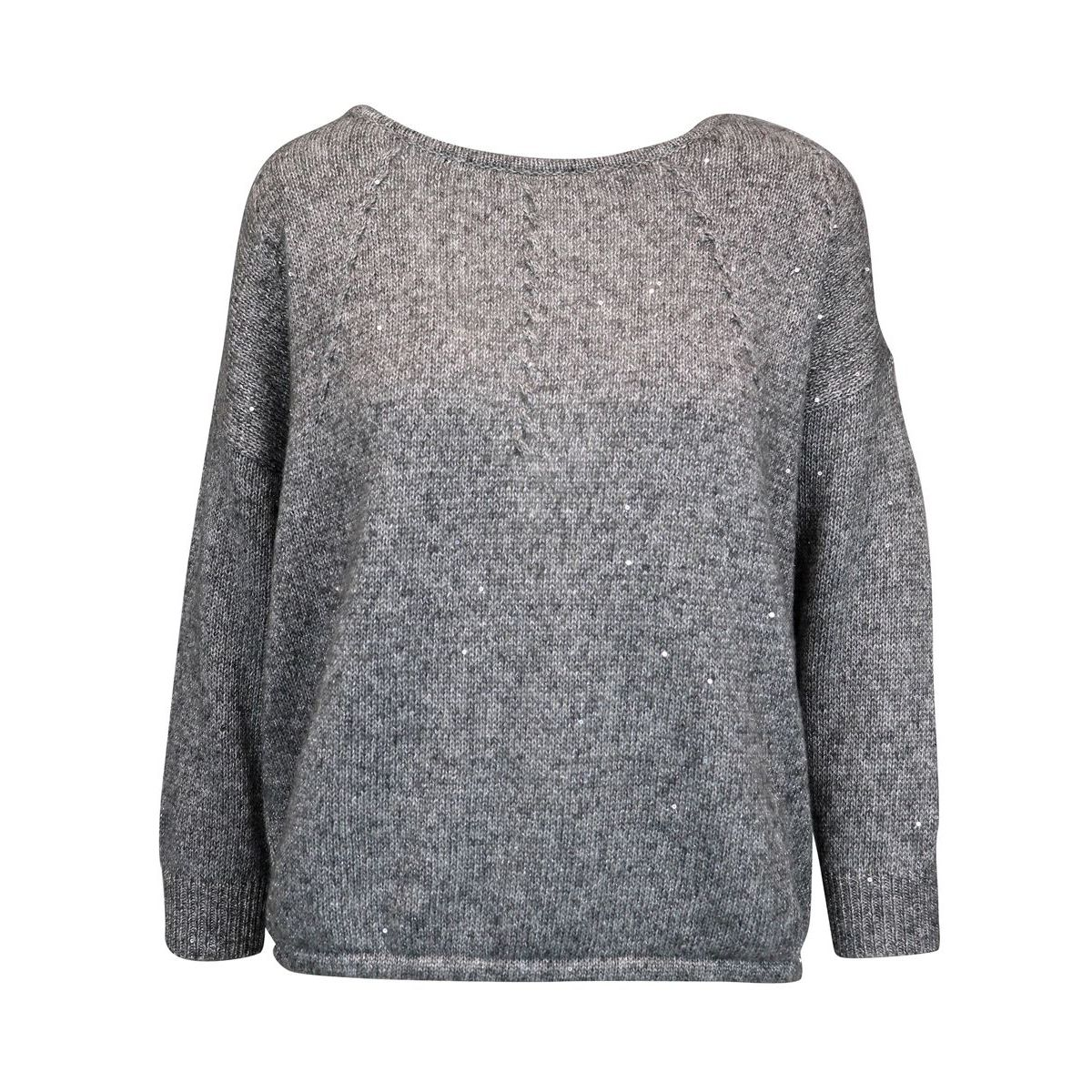 Wool blend sweater with micro sequins Grey Patrizia Pepe