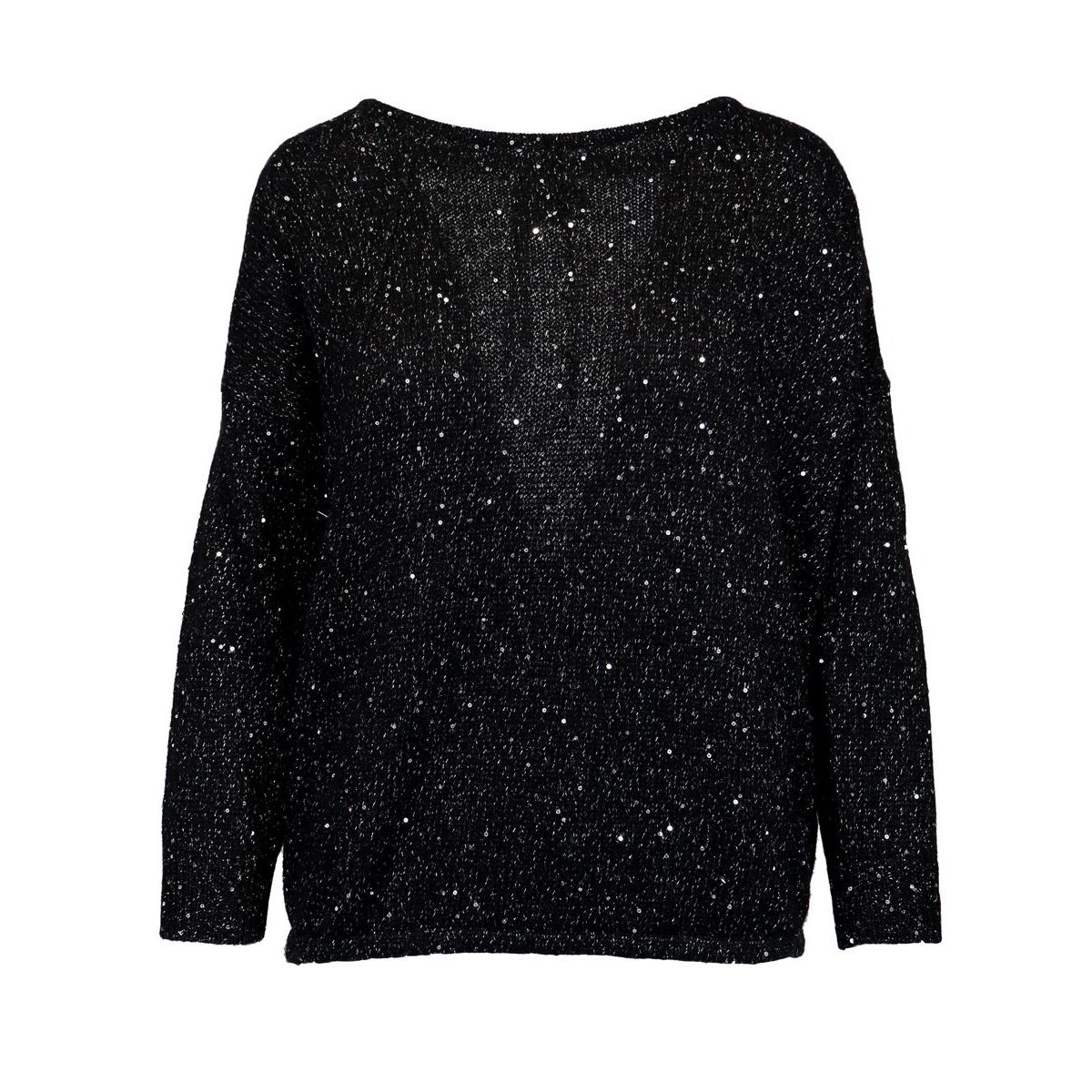 Wool blend sweater with micro sequins Black Patrizia Pepe