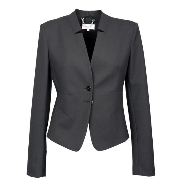 Slim blazer in wool blend with two buttons Black Patrizia Pepe