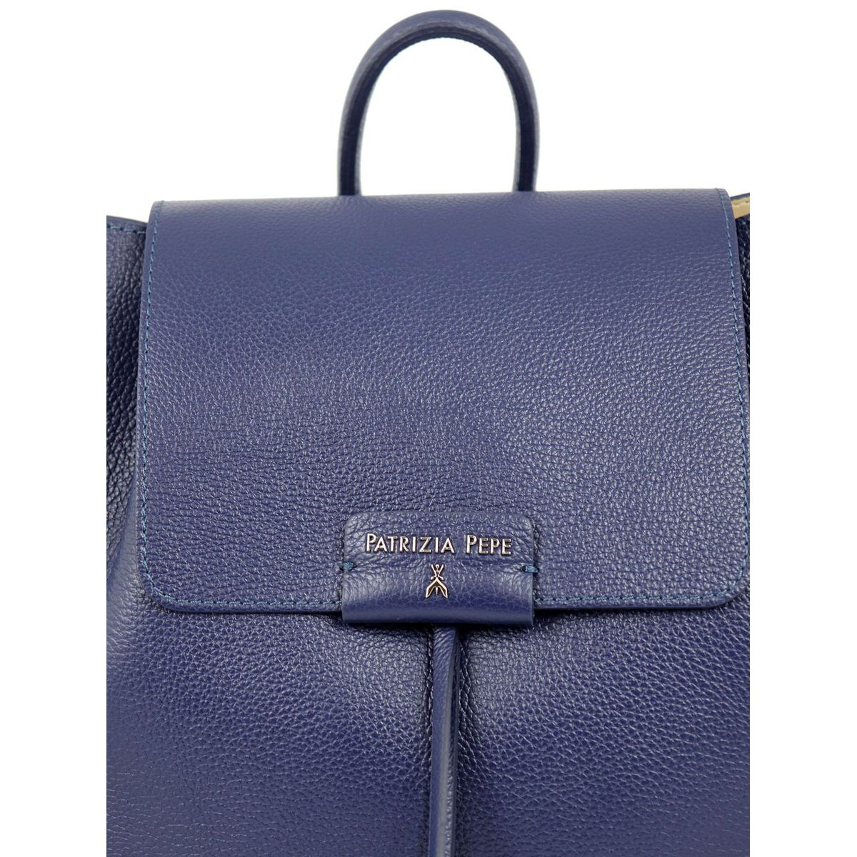 Leather backpack with magnet closure Blue Patrizia Pepe