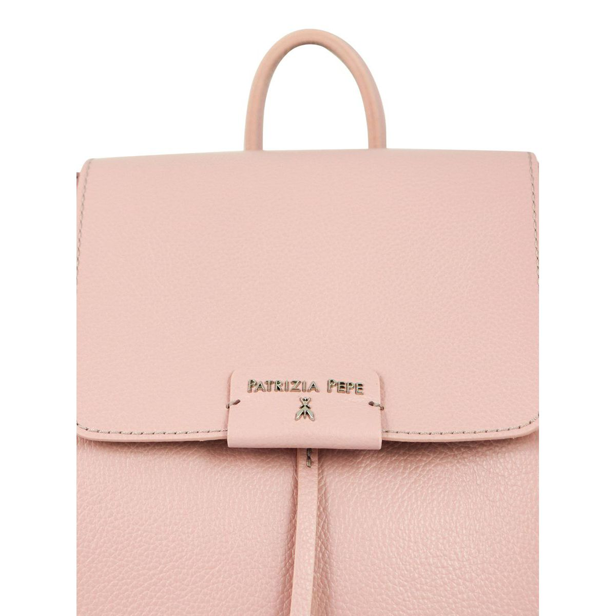 Leather backpack with magnet closure Pink Patrizia Pepe