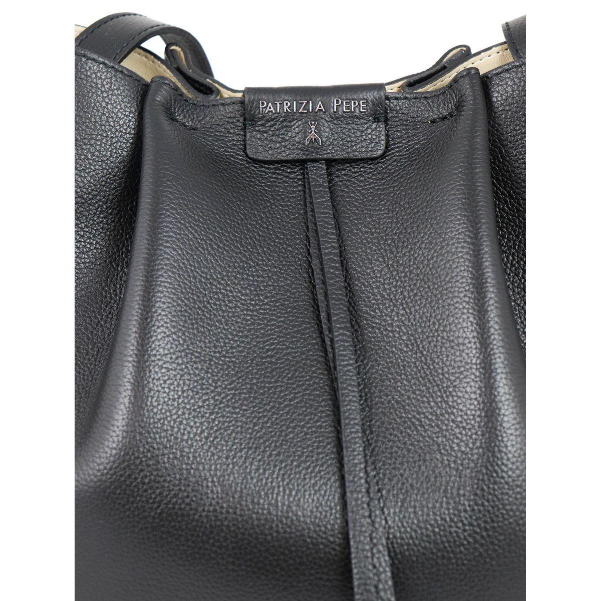 Leather bucket bag Black Patrizia Pepe