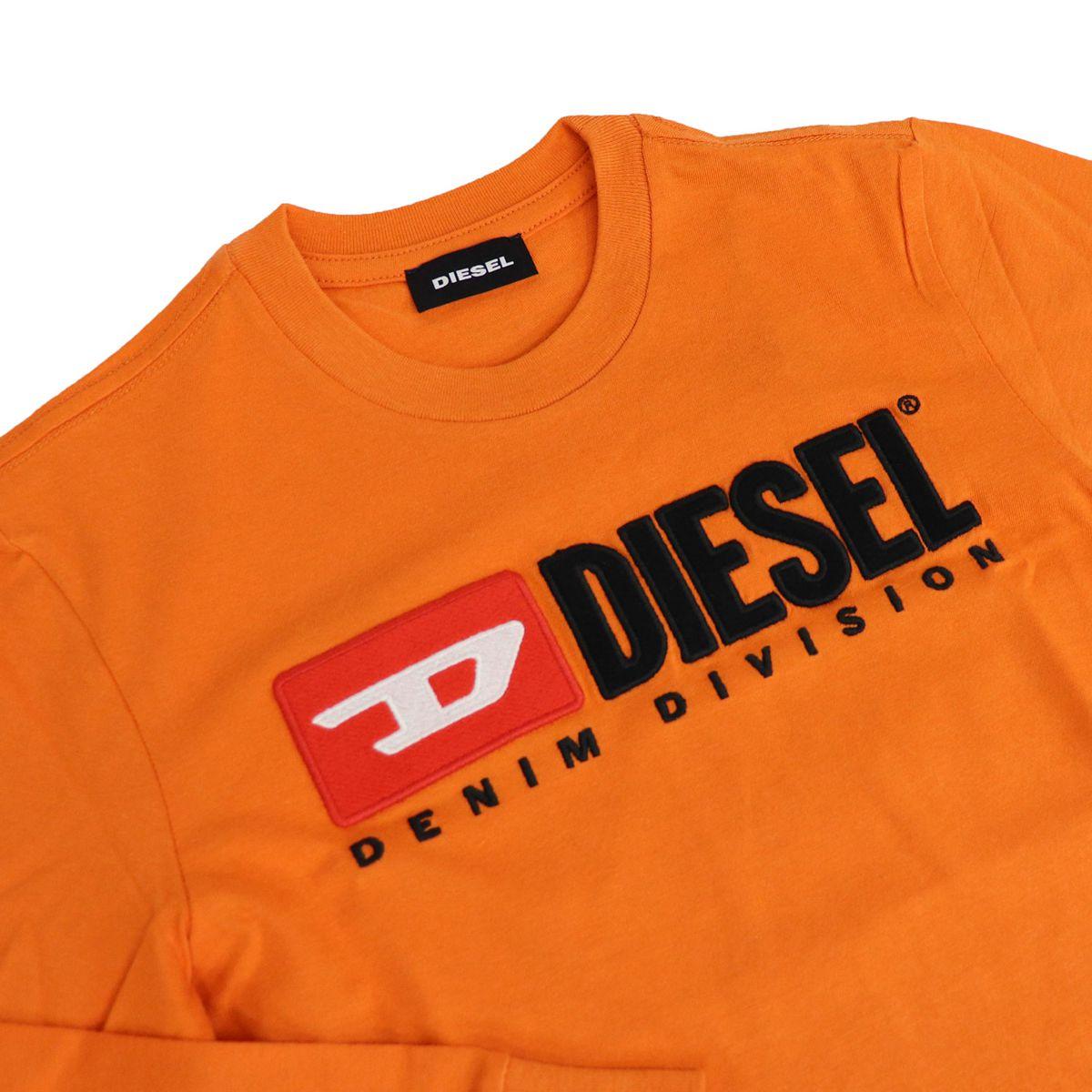 Long sleeve t-shirt with applied logo Orange Diesel