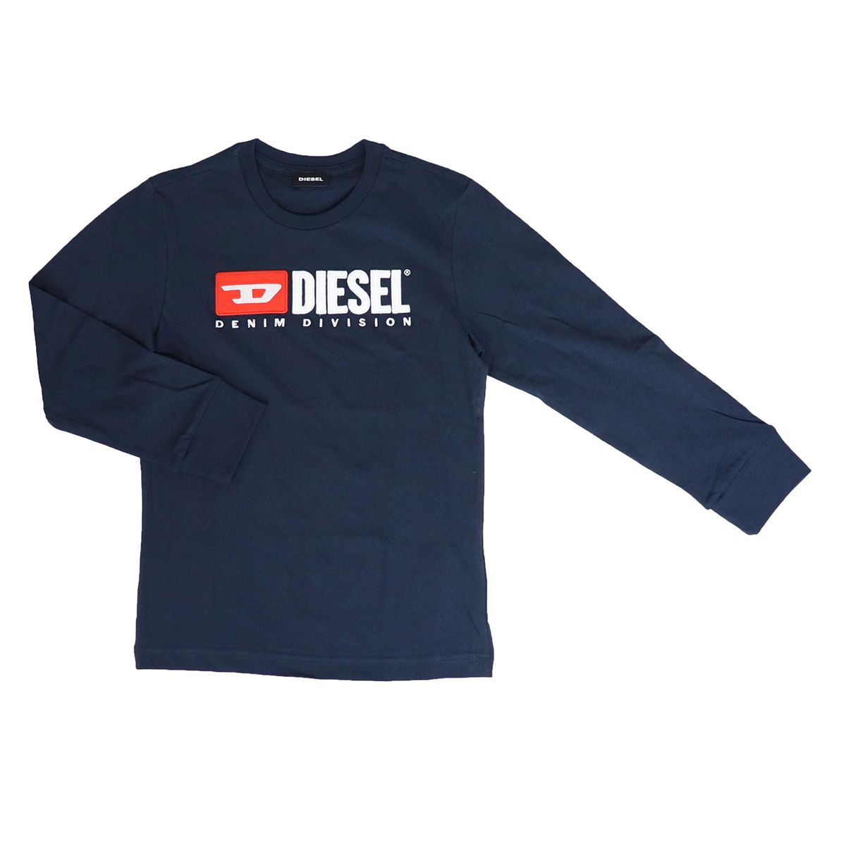 Long sleeve t-shirt with applied logo Blue Diesel