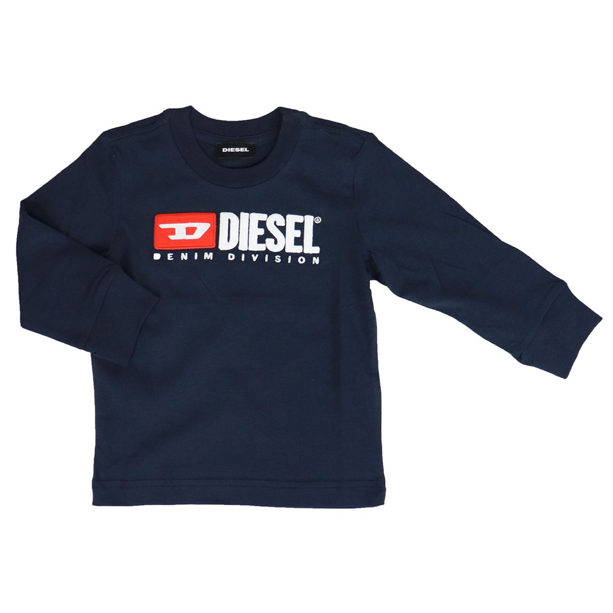 Long sleeve t-shirt with applied logo Black Diesel