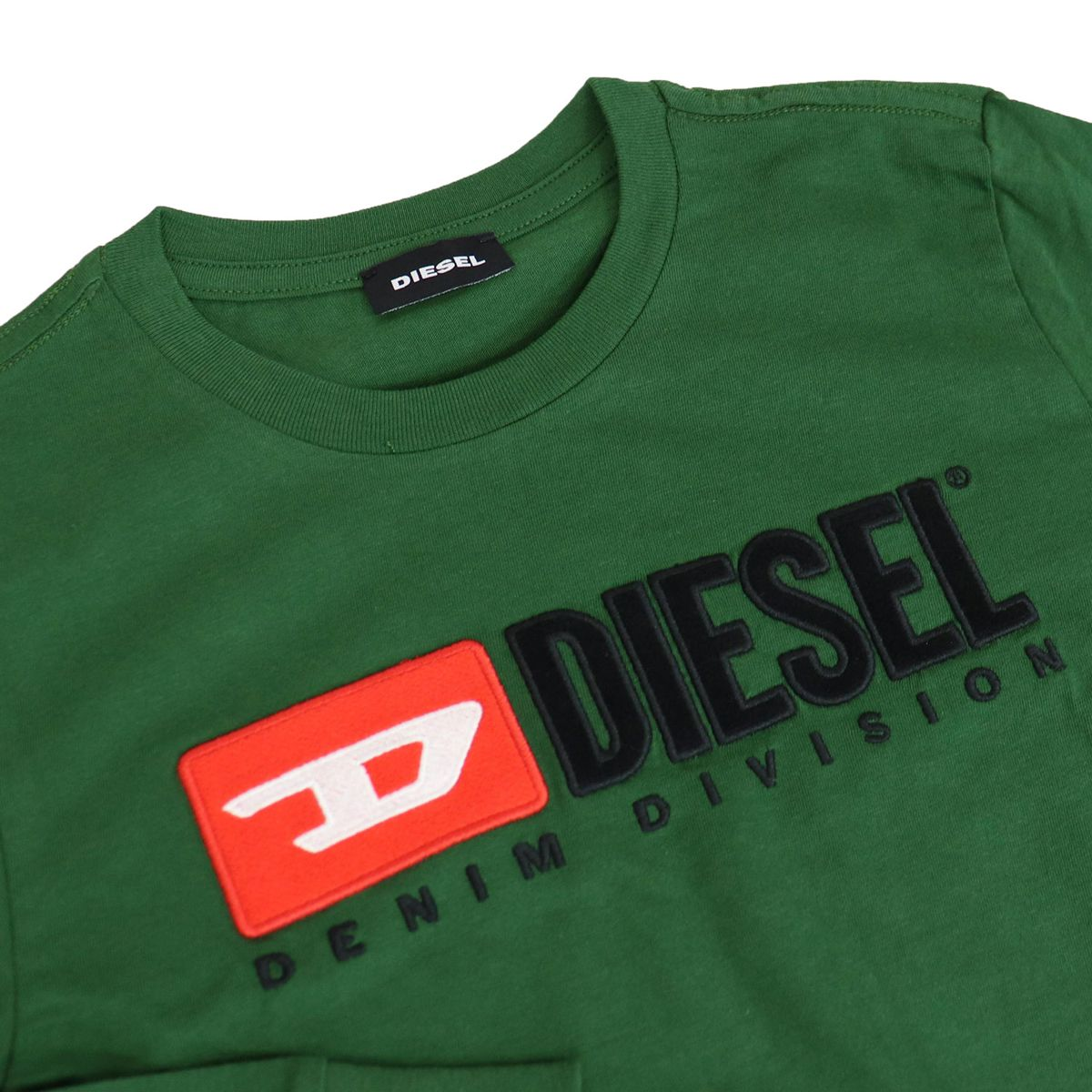 Long sleeve t-shirt with applied logo Green Diesel