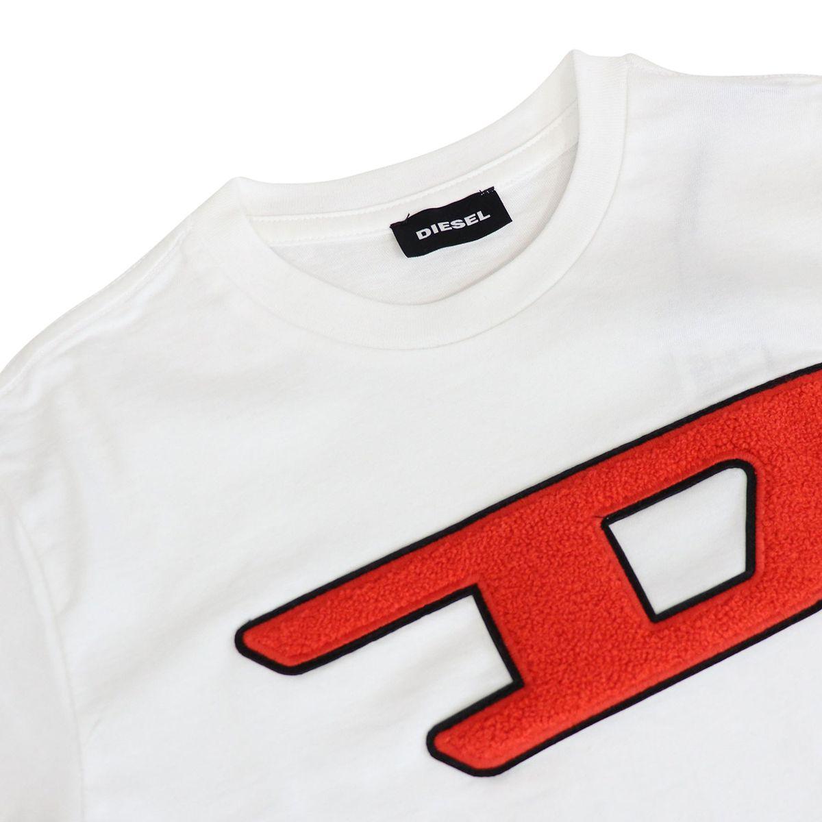 Short sleeve t-shirt with big logo White Diesel