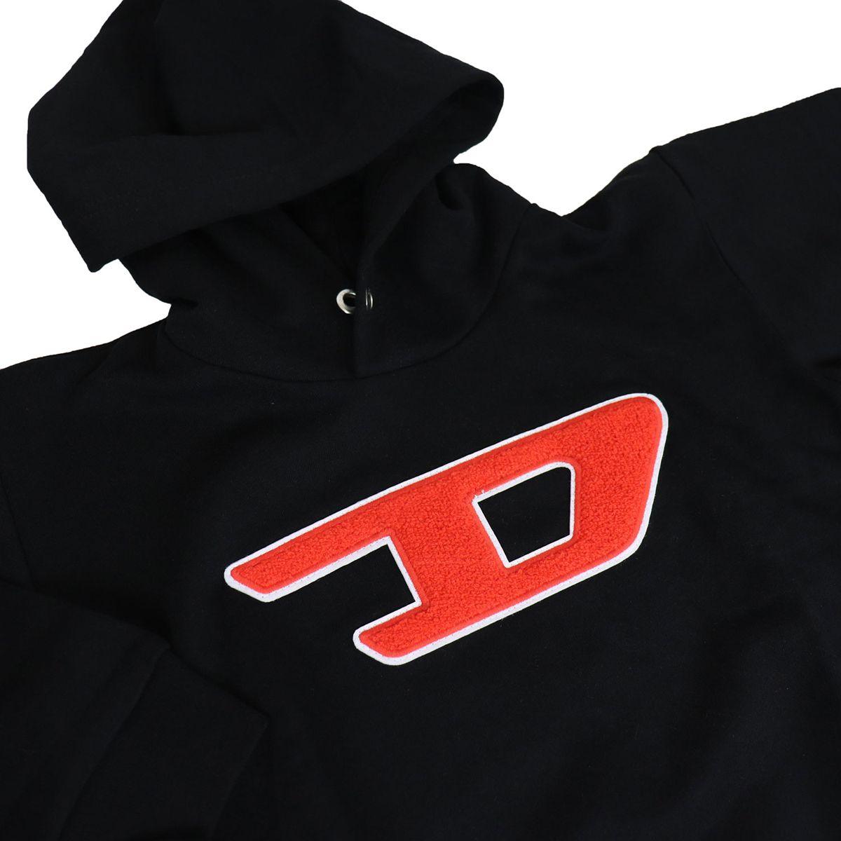 Sweatshirt with large logo hood Black Diesel