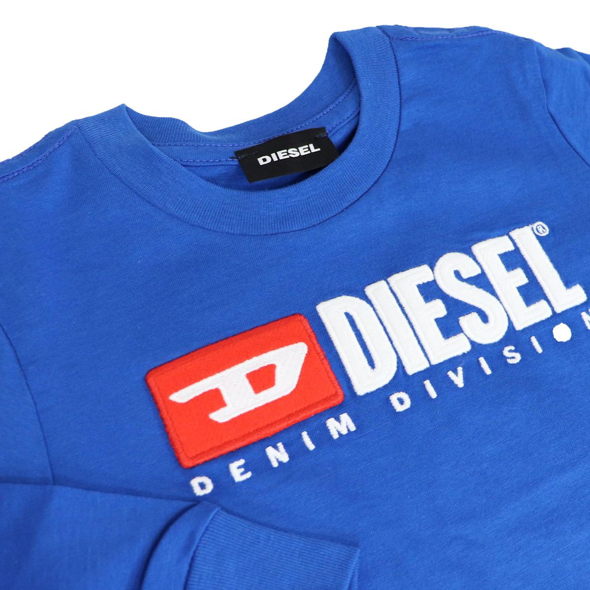 Long sleeve t-shirt with contrast logo Bluette Diesel
