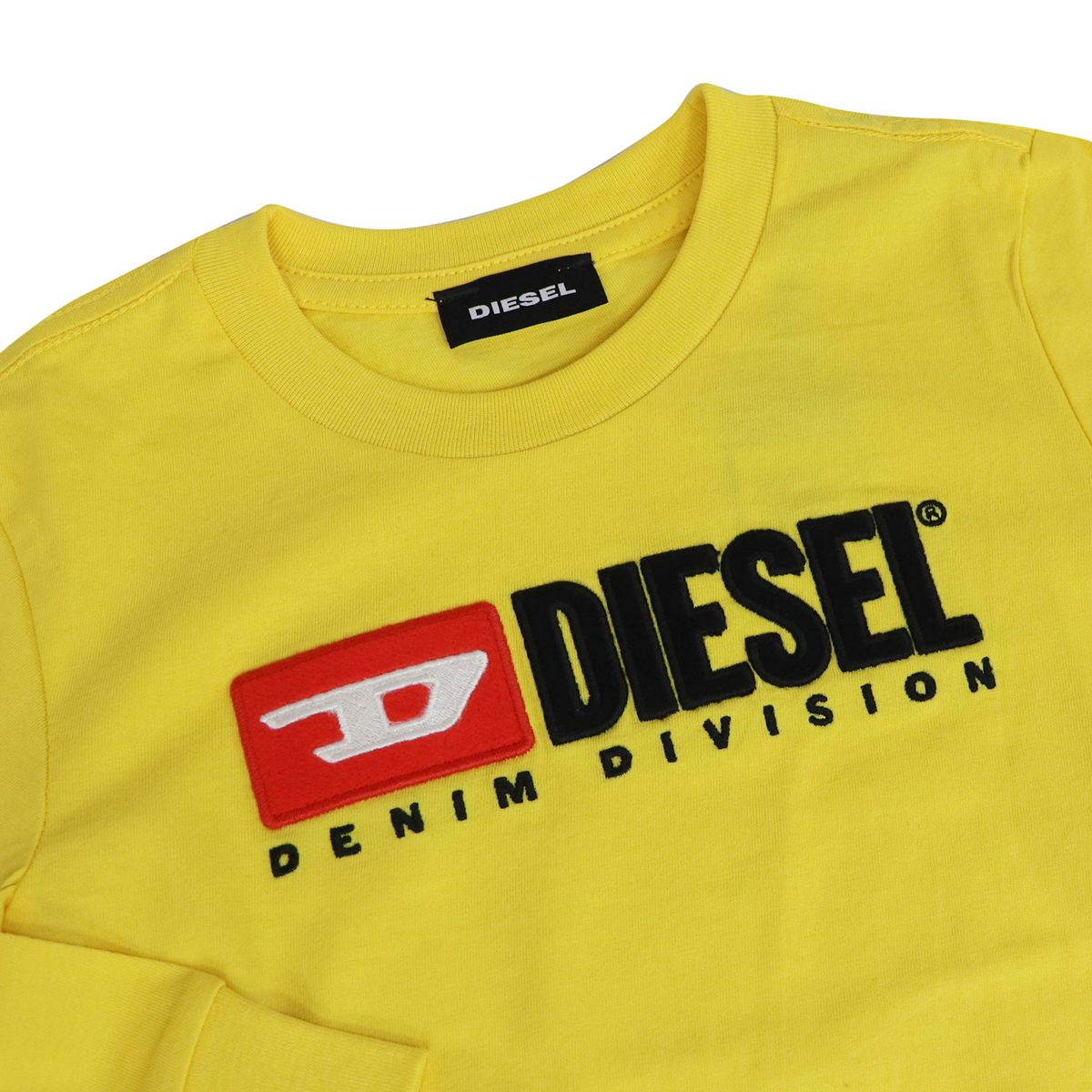 Long sleeve t-shirt with contrast logo Yellow Diesel