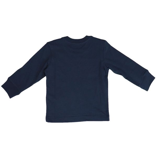 Long sleeve t-shirt with contrast logo Blue Diesel