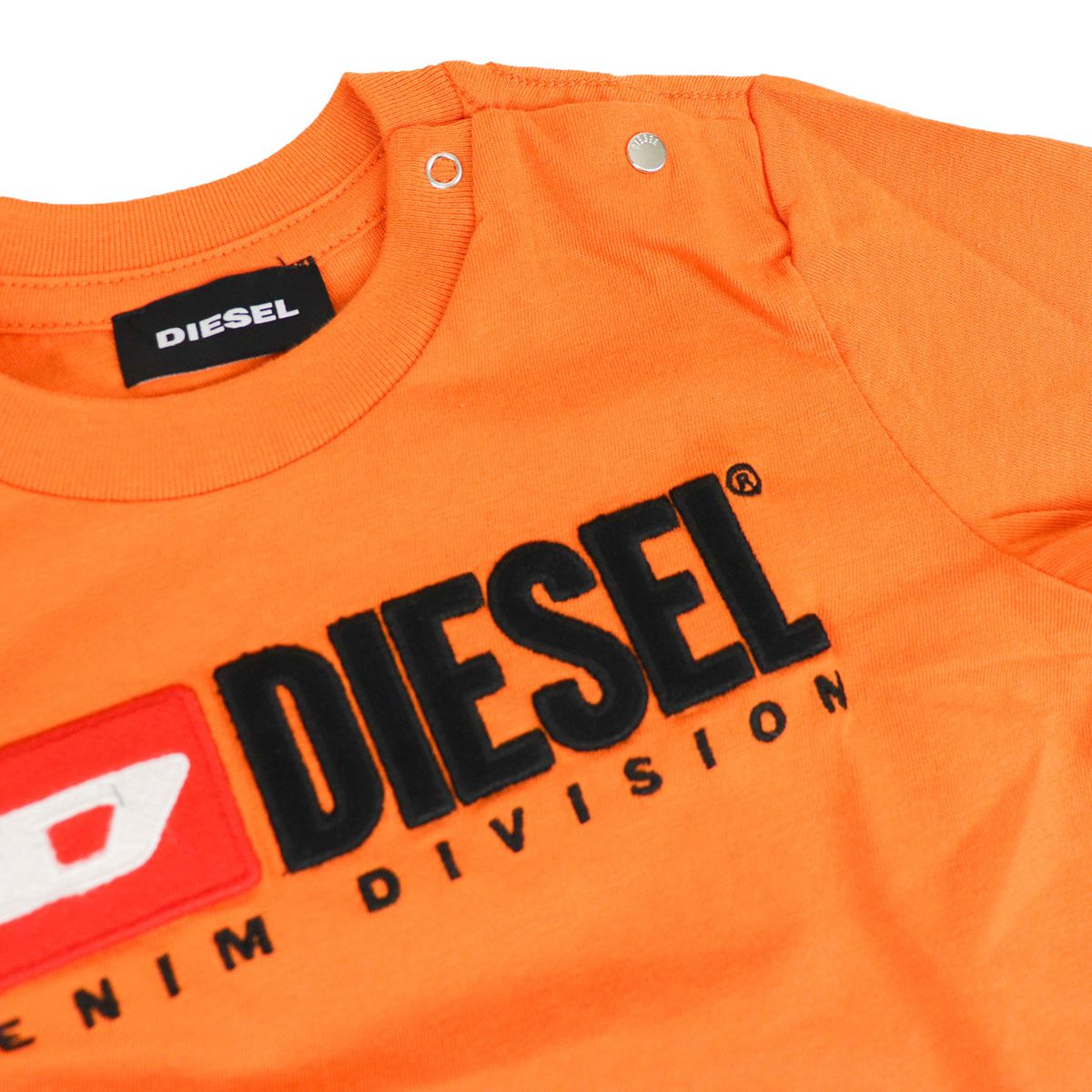 T-shirt with applied logo on the front Orange Diesel