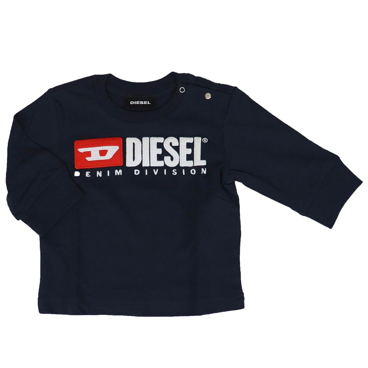 T-shirt with applied logo on the front Blue Diesel