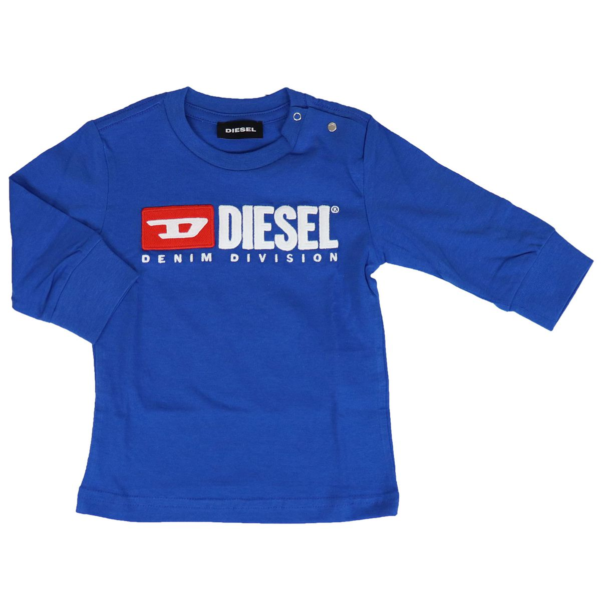 T-shirt with applied logo on the front Bluette Diesel